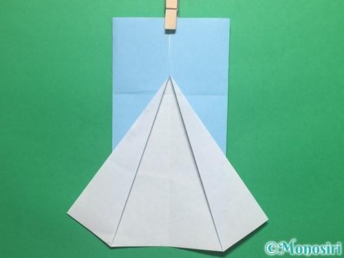 折り紙で簡単なてるてる坊主の折り方手順8