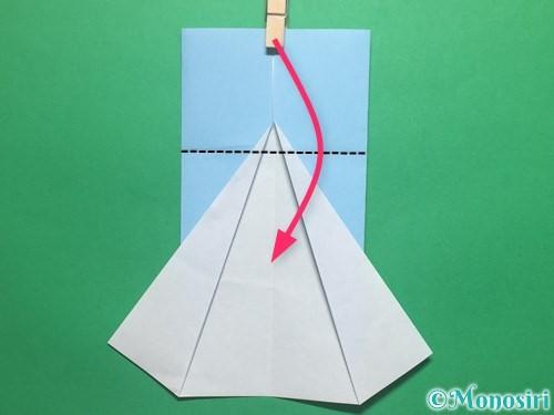 折り紙で簡単なてるてる坊主の折り方手順9