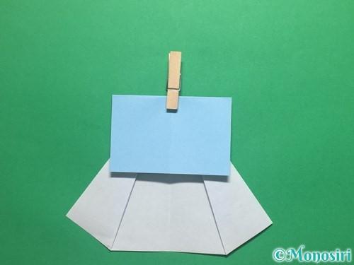 折り紙で簡単なてるてる坊主の折り方手順10