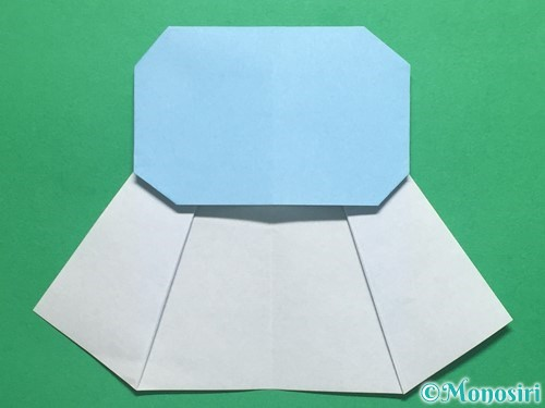 折り紙で簡単なてるてる坊主の折り方手順12