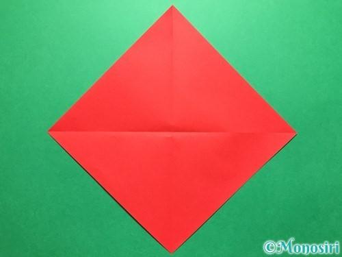 折り紙で立体的ないちごの作り方手順2