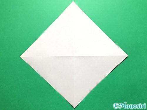 折り紙で立体的ないちごの作り方手順3