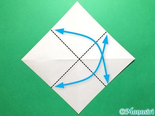 折り紙で立体的ないちごの作り方手順4