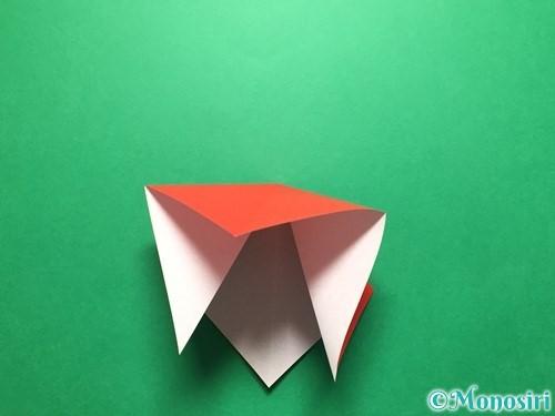折り紙で立体的ないちごの作り方手順7