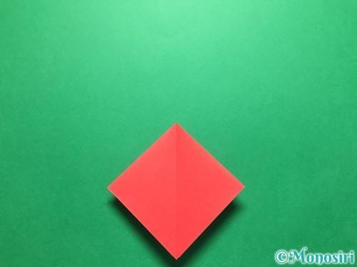 折り紙で立体的ないちごの作り方手順8