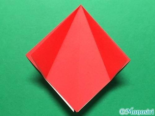 折り紙で立体的ないちごの作り方手順10