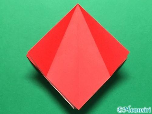 折り紙で立体的ないちごの作り方手順11