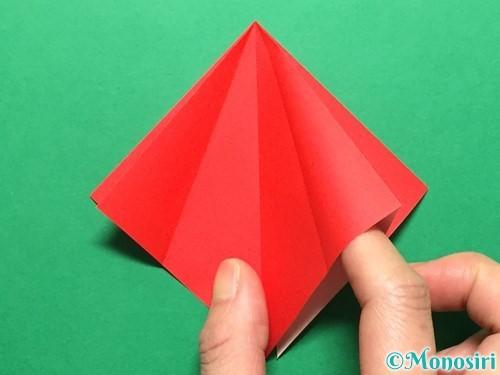 折り紙で立体的ないちごの作り方手順12
