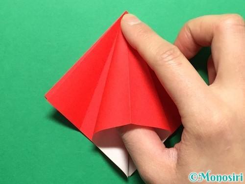 折り紙で立体的ないちごの作り方手順13