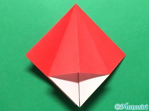 折り紙で立体的ないちごの作り方手順14
