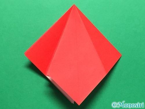 折り紙で立体的ないちごの作り方手順16