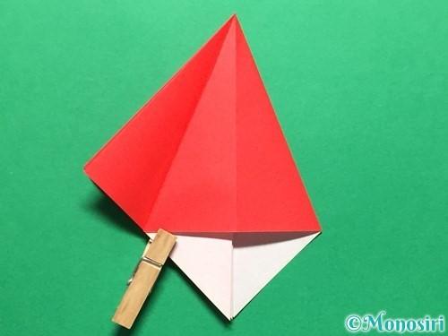 折り紙で立体的ないちごの作り方手順17