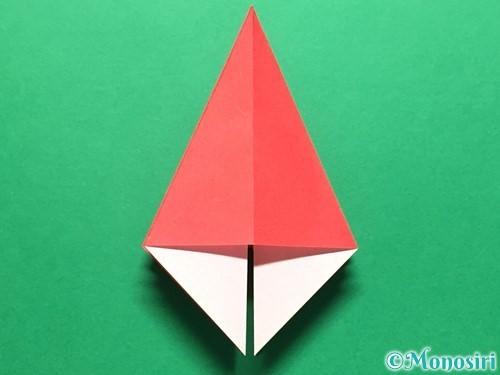 折り紙で立体的ないちごの作り方手順18