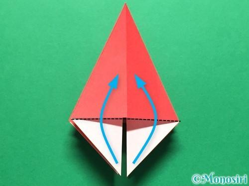 折り紙で立体的ないちごの作り方手順19