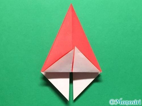 折り紙で立体的ないちごの作り方手順20