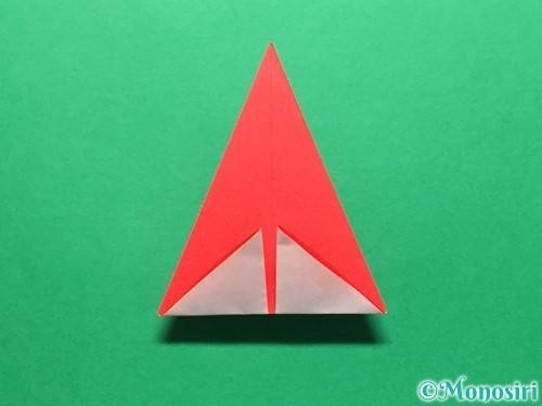 折り紙で立体的ないちごの作り方手順21