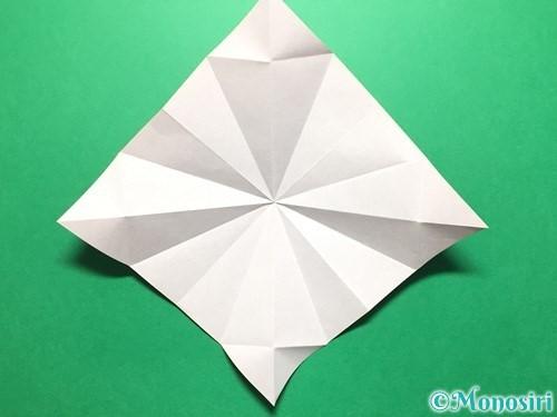 折り紙で立体的ないちごの作り方手順22