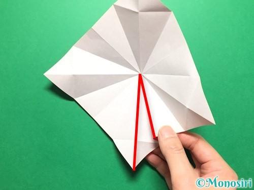折り紙で立体的ないちごの作り方手順24