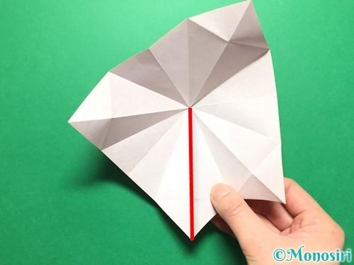 折り紙で立体的ないちごの作り方手順25