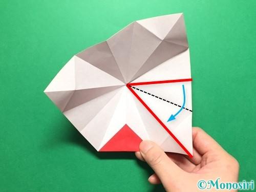 折り紙で立体的ないちごの作り方手順28