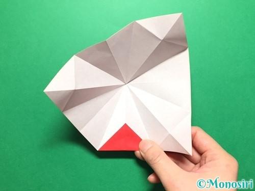 折り紙で立体的ないちごの作り方手順27