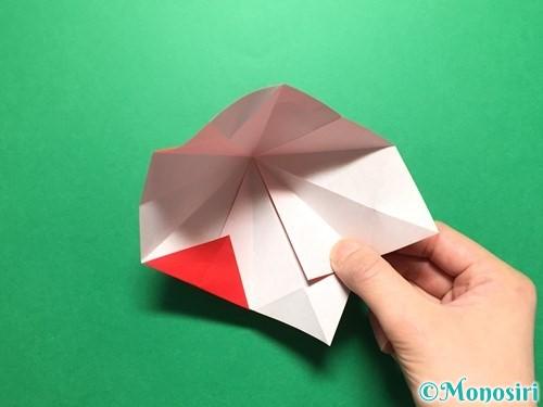 折り紙で立体的ないちごの作り方手順29