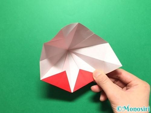 折り紙で立体的ないちごの作り方手順30