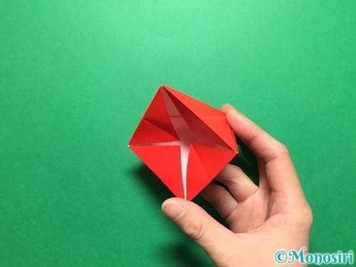 折り紙で立体的ないちごの作り方手順31