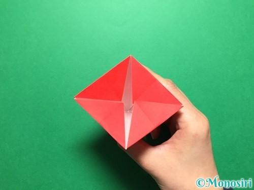 折り紙で立体的ないちごの作り方手順32