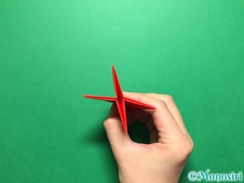 折り紙で立体的ないちごの作り方手順34