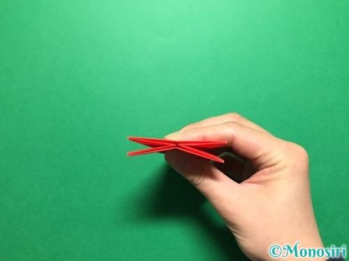 折り紙で立体的ないちごの作り方手順35