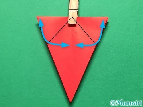 折り紙で立体的ないちごの作り方手順36