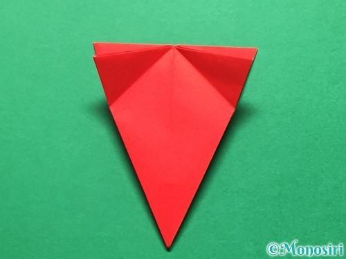 折り紙で立体的ないちごの作り方手順37