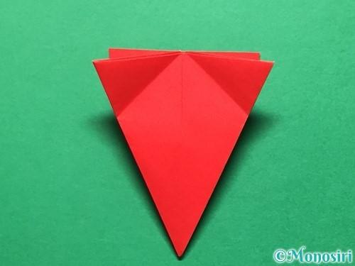 折り紙で立体的ないちごの作り方手順38