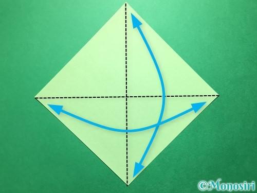 折り紙で立体的ないちごの作り方手順42