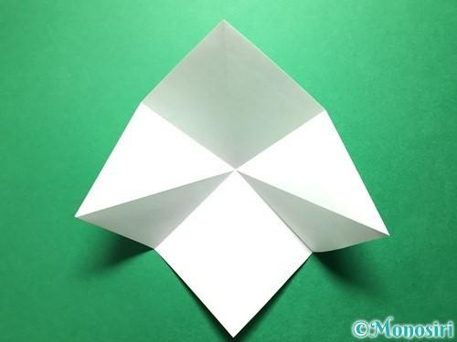 折り紙で立体的ないちごの作り方手順47