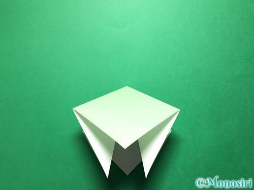 折り紙で立体的ないちごの作り方手順48