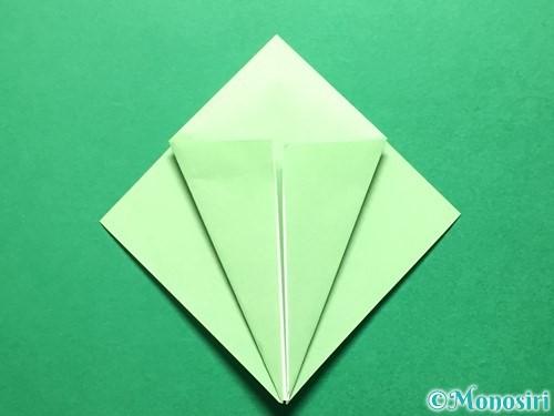 折り紙で立体的ないちごの作り方手順51