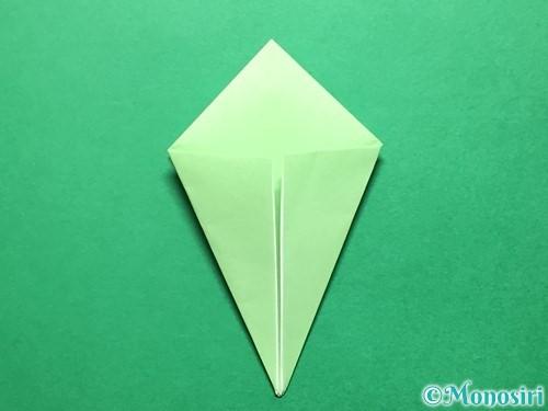 折り紙で立体的ないちごの作り方手順52