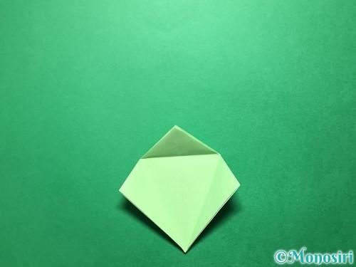 折り紙で立体的ないちごの作り方手順55