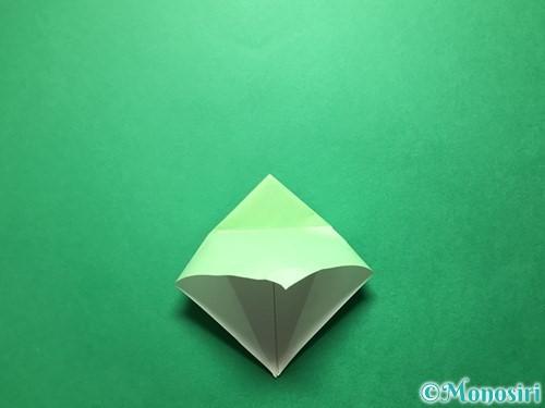 折り紙で立体的ないちごの作り方手順57