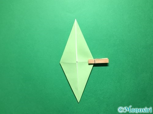 折り紙で立体的ないちごの作り方手順59