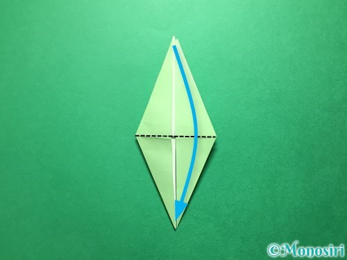 折り紙で立体的ないちごの作り方手順61
