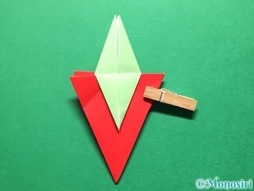 折り紙で立体的ないちごの作り方手順70