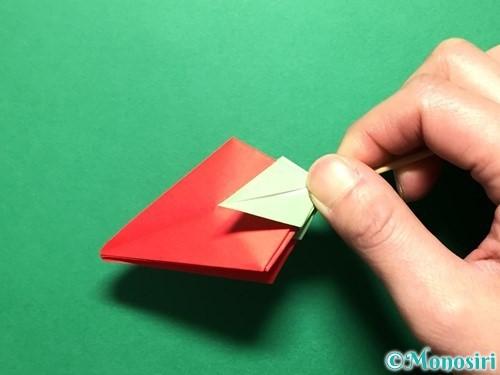 折り紙で立体的ないちごの作り方手順80