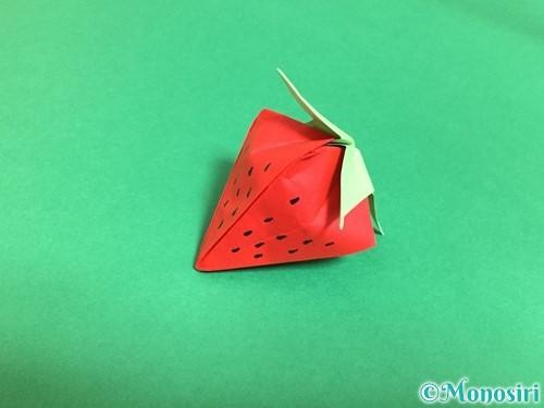 折り紙で立体的ないちごの作り方手順84