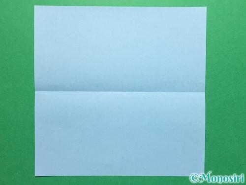折り紙で立体的なてるてる坊主の折り方手順2