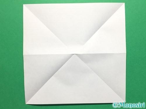 折り紙で立体的なてるてる坊主の折り方手順5