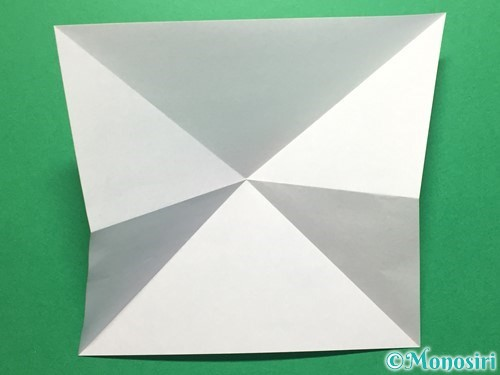 折り紙で立体的なてるてる坊主の折り方手順6