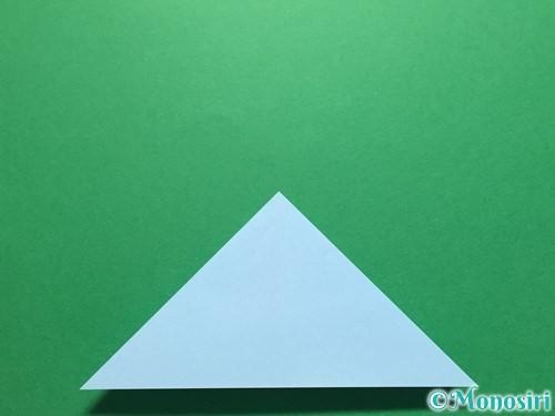 折り紙で立体的なてるてる坊主の折り方手順8